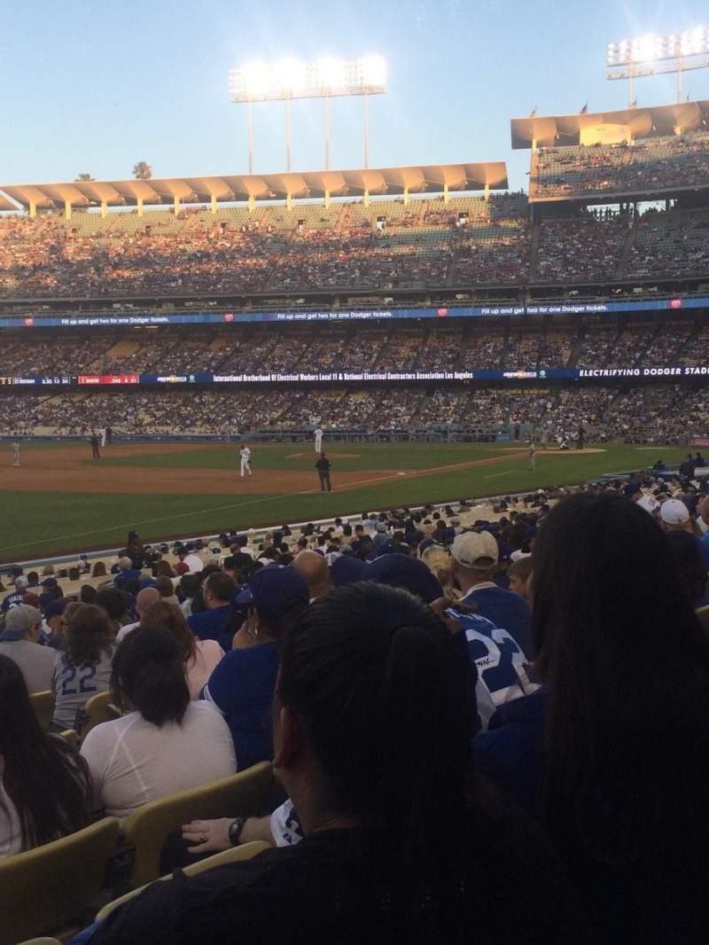 Seating view for Dodger Stadium Section 43FD Row R Seat 6