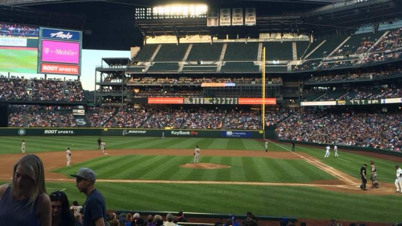 Seating view for Safeco Field Section 136 Row 22 Seat 10