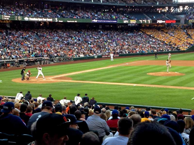 Seating view for Safeco Field Section 121 Row 28 Seat 8