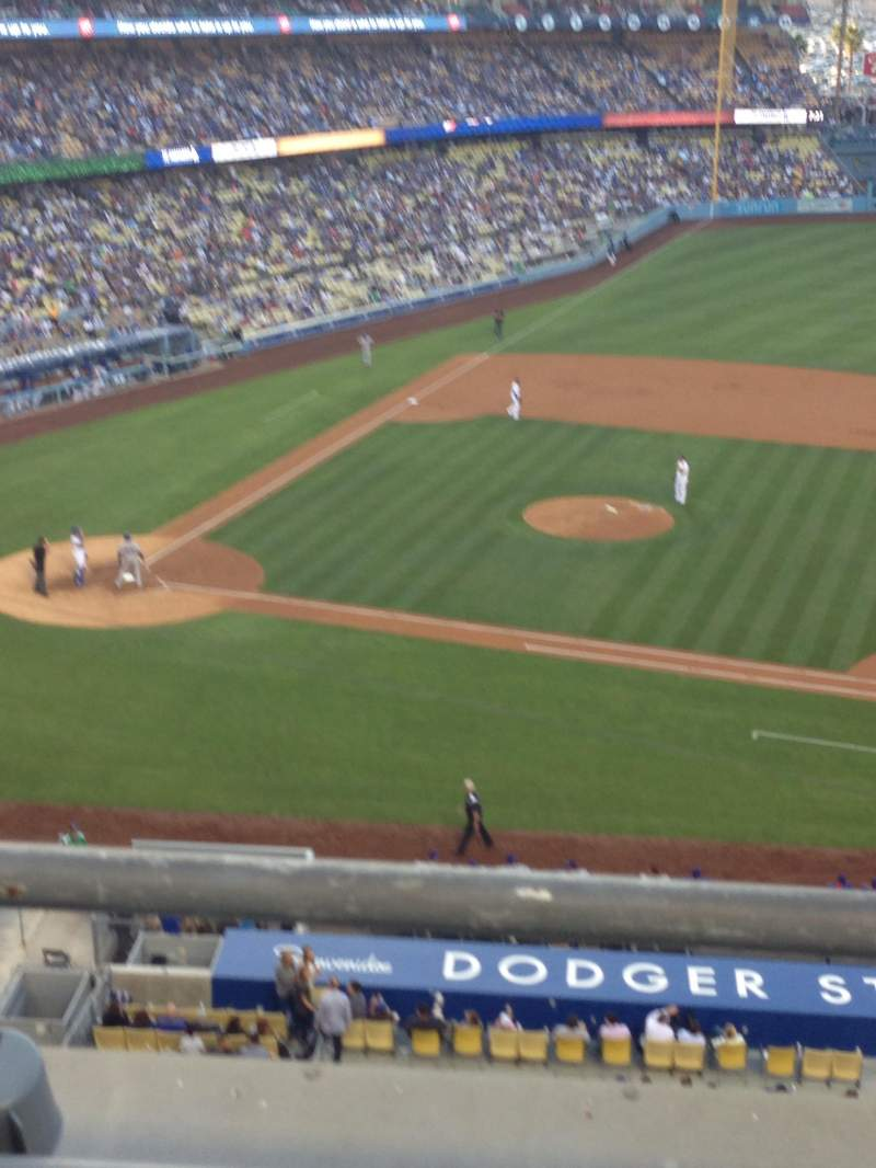 Seating view for Dodger Stadium Section 20RS Row B Seat 2