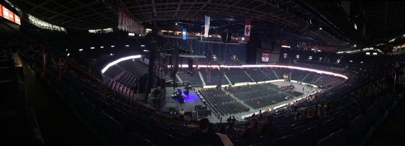 Seating view for Scotiabank Saddledome Section 219 Row 20 Seat 12