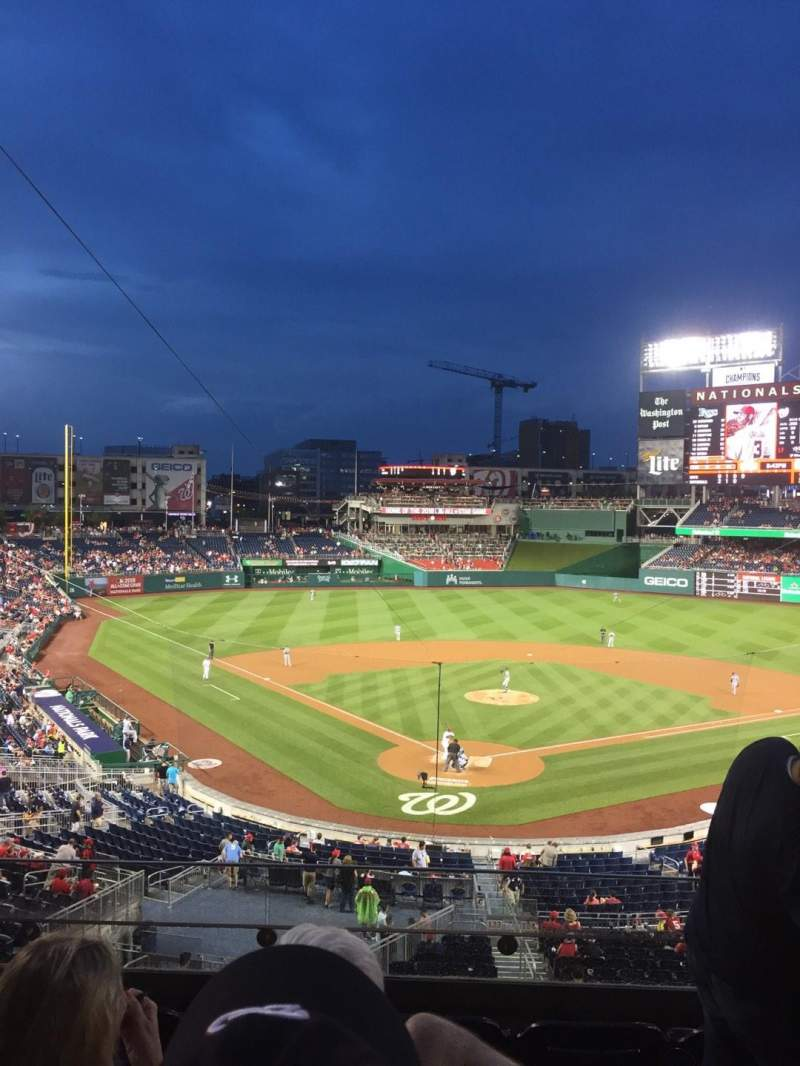 Seating view for Nationals Park Section 214 Row E Seat 3