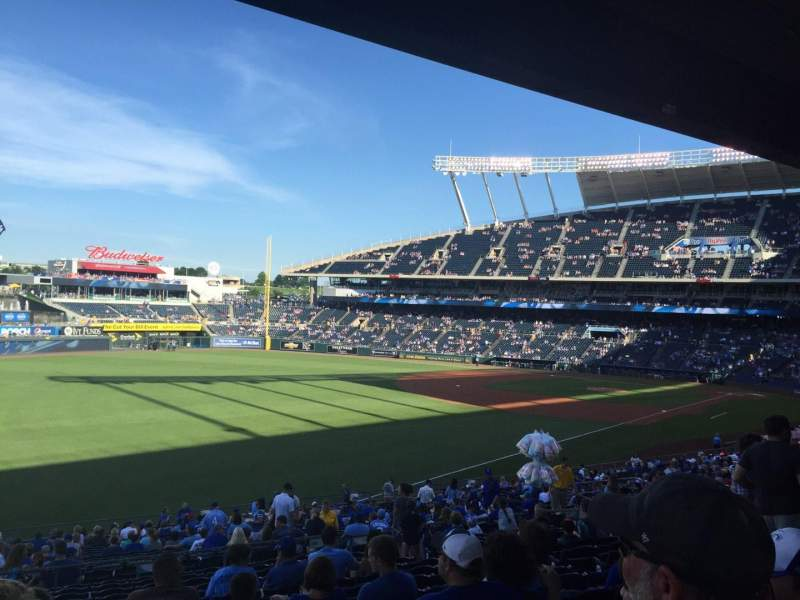 Seating view for Kauffman Stadium Section 209 Row RR Seat 4
