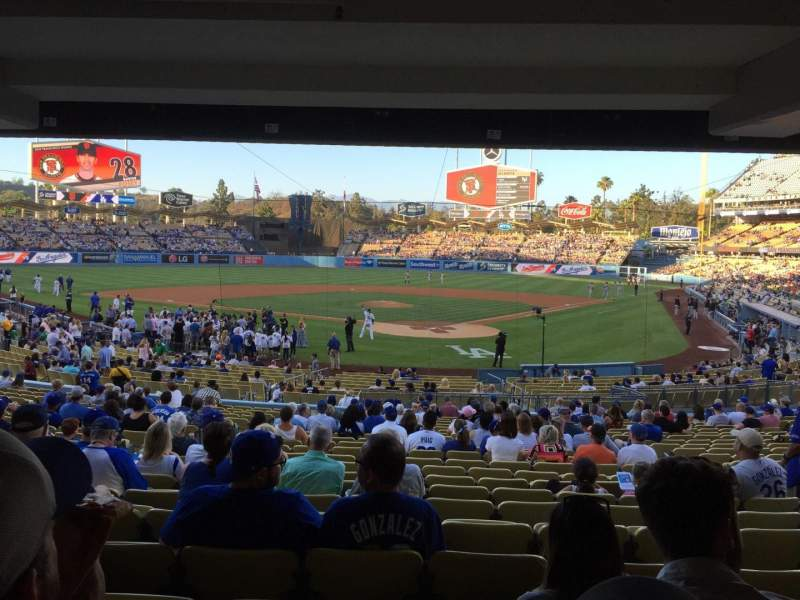 Seating view for Dodger Stadium Section 3FD Row X Seat 7