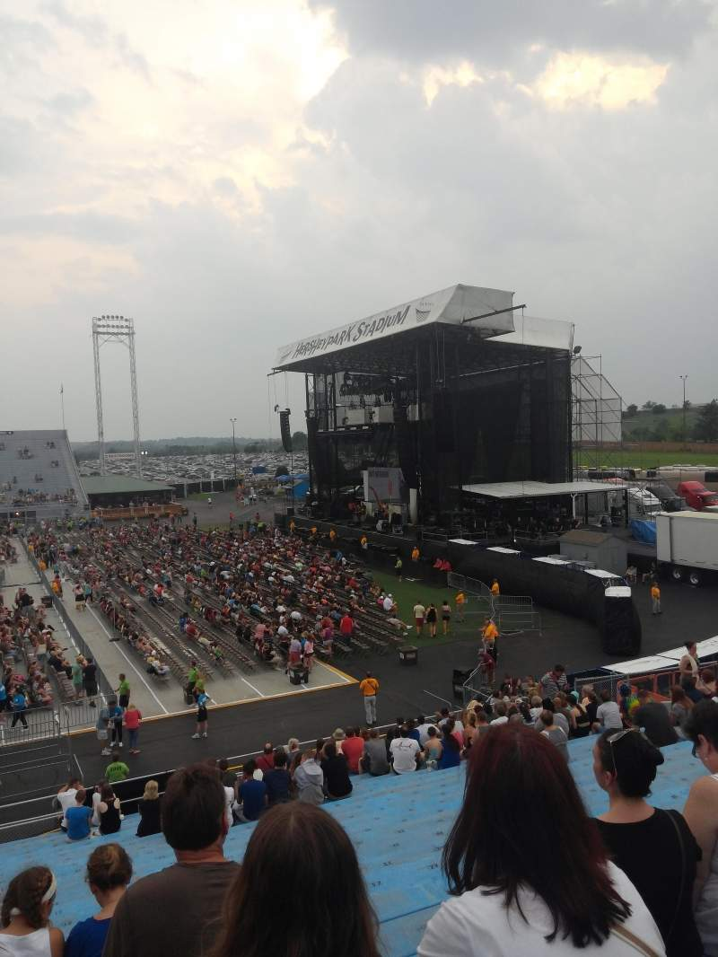 Seating view for Hershey Park Stadium