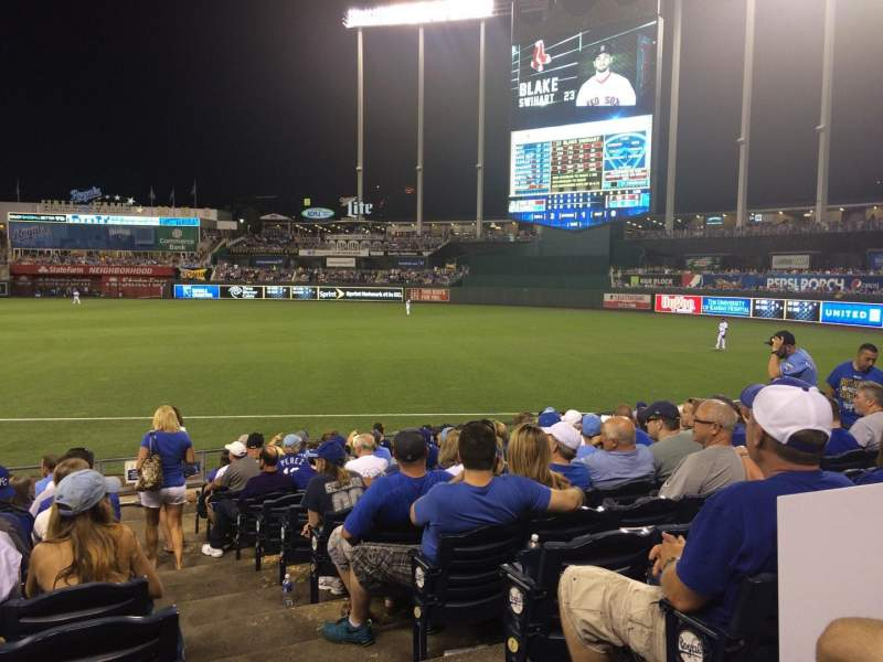 Seating view for Kauffman Stadium Section 140 Row P Seat 9
