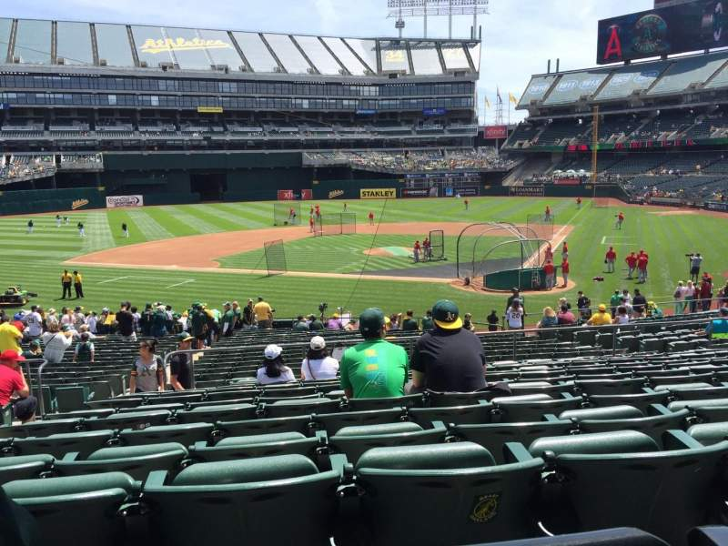Seating view for Oakland Alameda Coliseum Section 119 Row 31 Seat 18