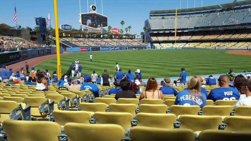 Seating view for Dodger Stadium Section 47FD Row P Seat 19