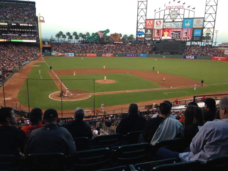 Seating view for AT&T Park Section 212 Row E Seat 7