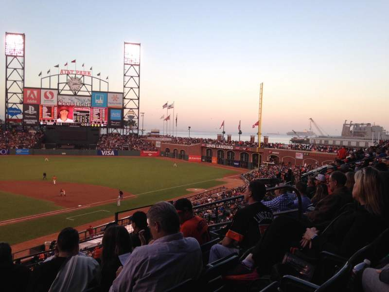 Seating view for AT&T Park Section 212 Row E Seat 8