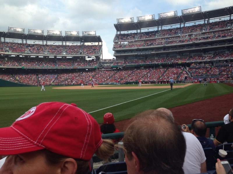 Seating view for Nationals Park Section 110 Row D Seat 13