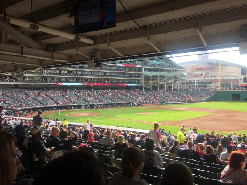 Seating view for Progressive Field Section GG Row 28 Seat 5