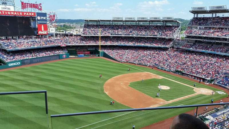 Seating view for Nationals Park Section 404 Row B Seat 22