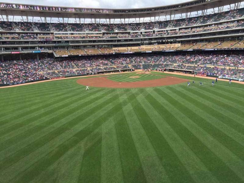 Seating view for Target Field Section 233 Row 1 Seat 14