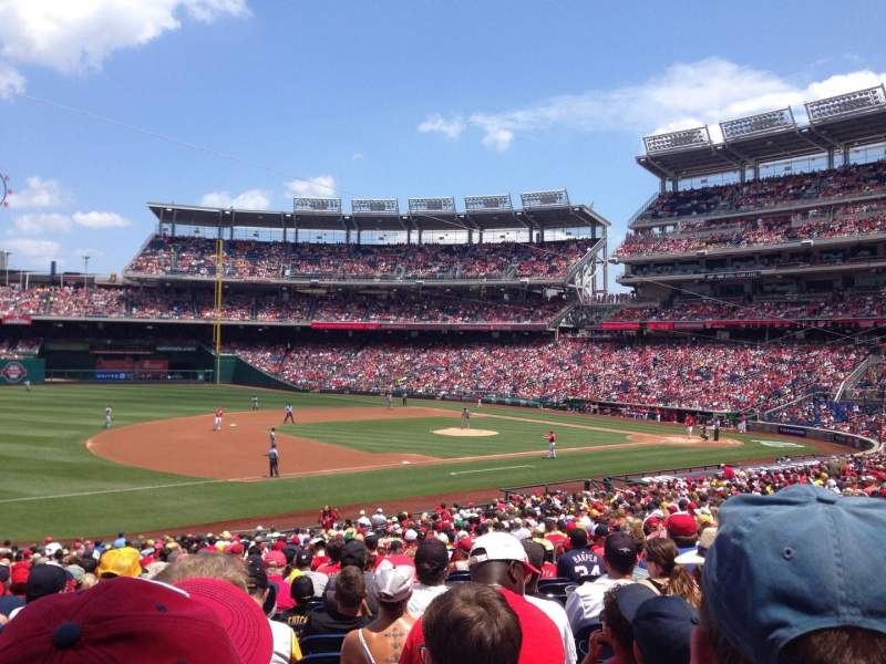Seating view for Nationals Park Section 113 Row MM Seat 14