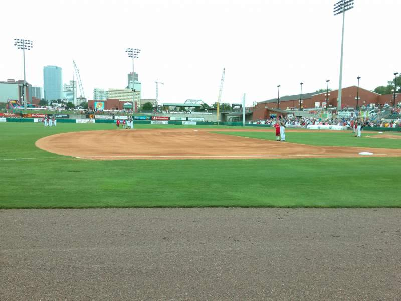 Seating view for Dickey-Stephens Park Section 115 Row 1 Seat 5