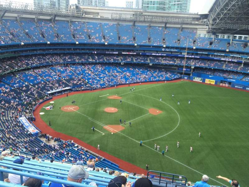 Seating view for Rogers Centre Section 512L Row 19 Seat 101