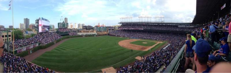 Seating view for Wrigley Field Section 406 Row 1 Seat 109