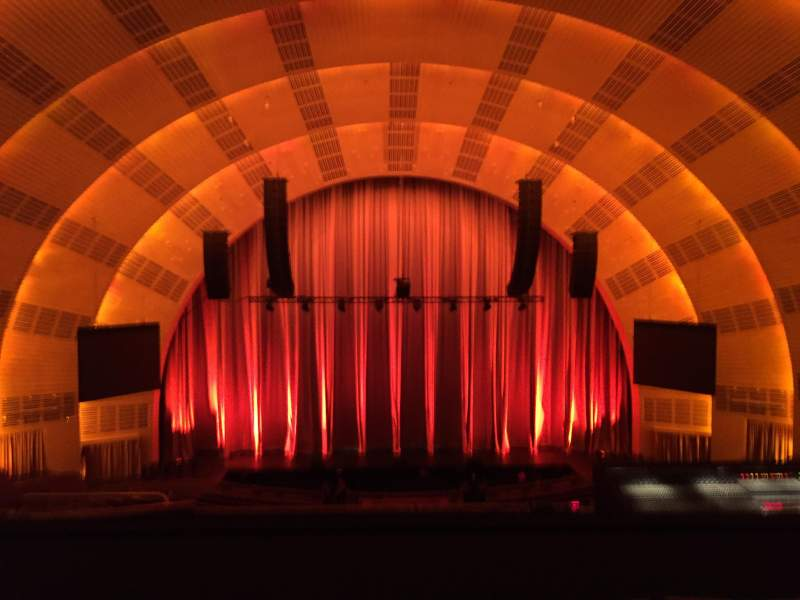 Seating view for Radio City Music Hall Section 2nd Mezzanine 4 Row E Seat 411-412