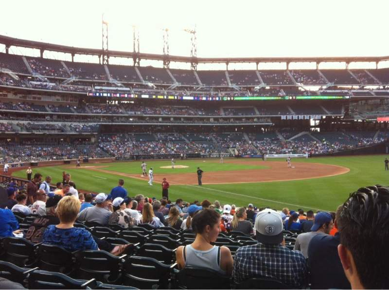 Seating view for Citi field Section 109 Row 16 Seat 18