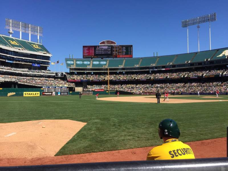 Seating view for Oakland Alameda Coliseum Section 126 Row 1 Seat 3
