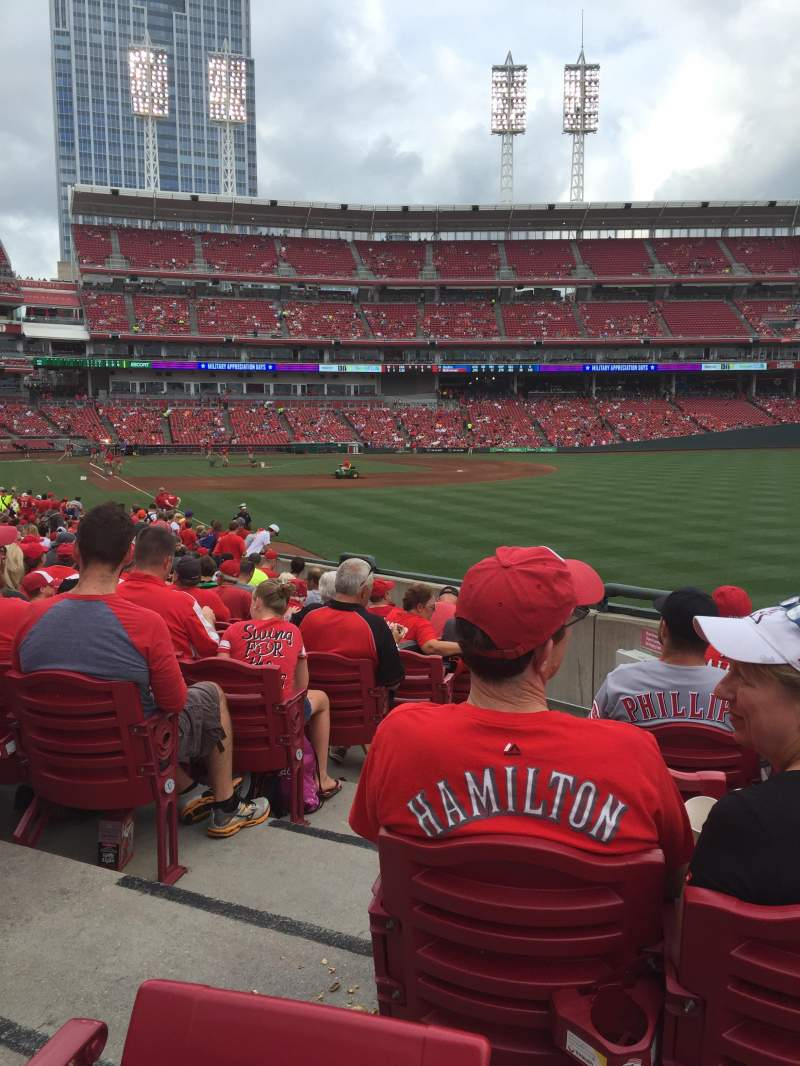 Seating view for Great American Ball Park Section 138 Row X Seat 12