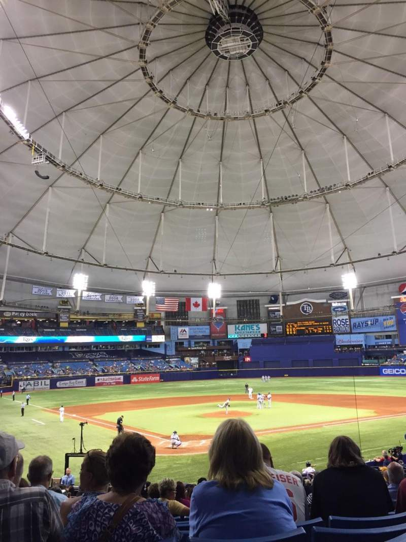 Seating view for Tropicana Field Section 104 Row DD Seat 4