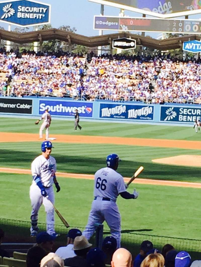 Seating view for Dodger Stadium Section 9FD Row E Seat 1