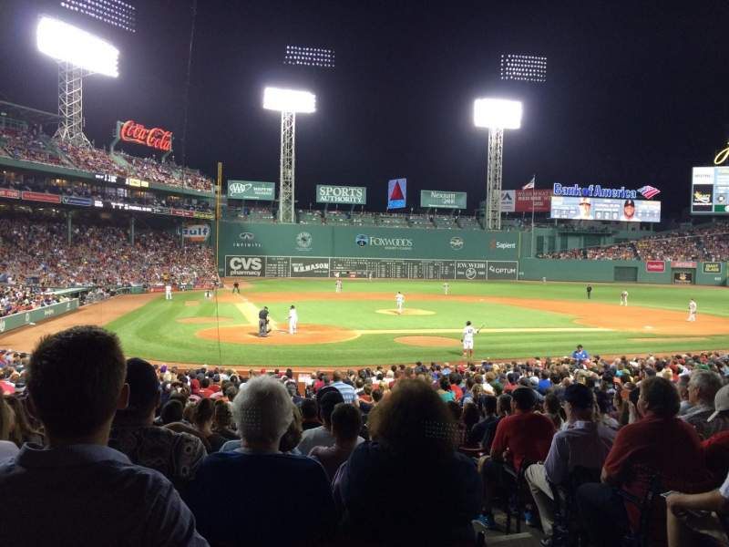 Seating view for Fenway Park Section Loge Box 125 Row LL Seat 2