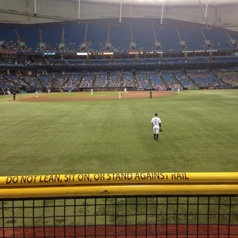 Seating view for Tropicana Field Section 144 Row U Seat 10