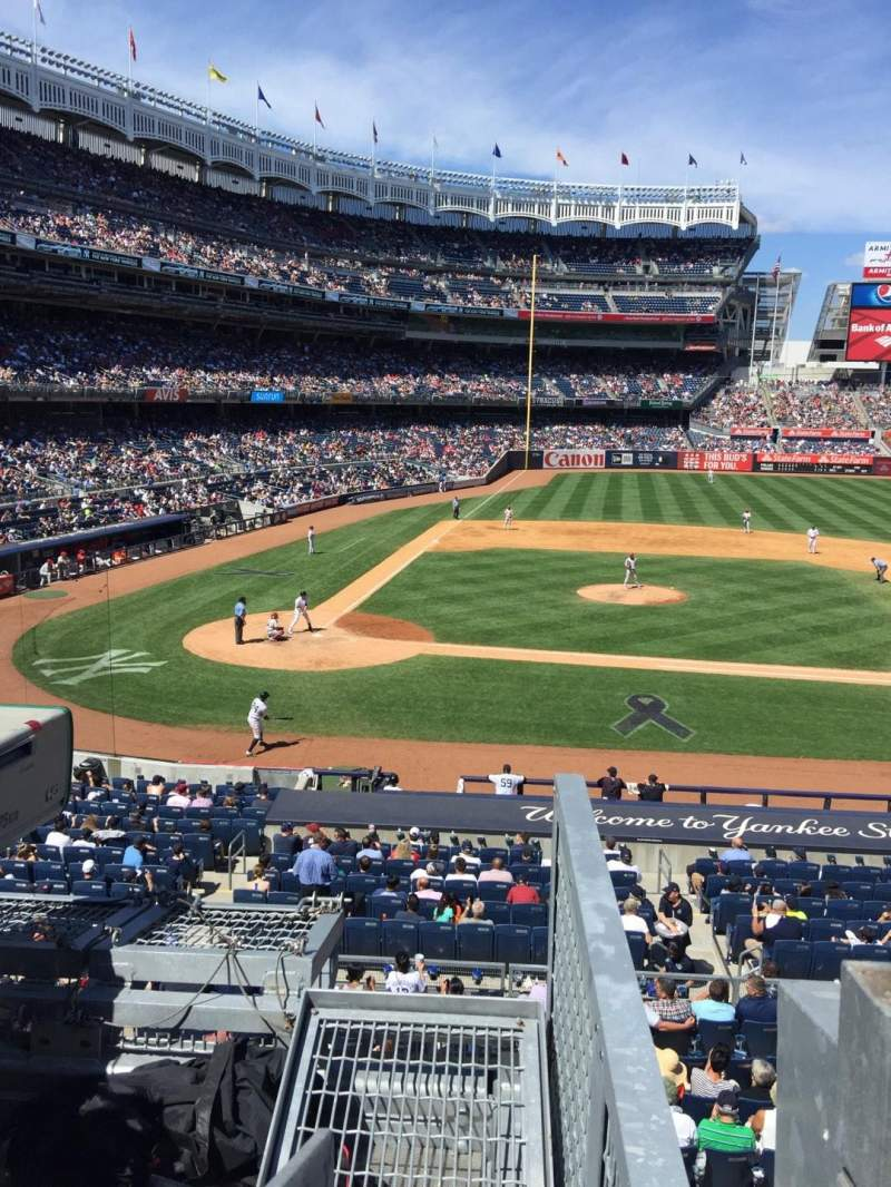 Seating view for Yankee Stadium Section 217 Row 1 Seat 1