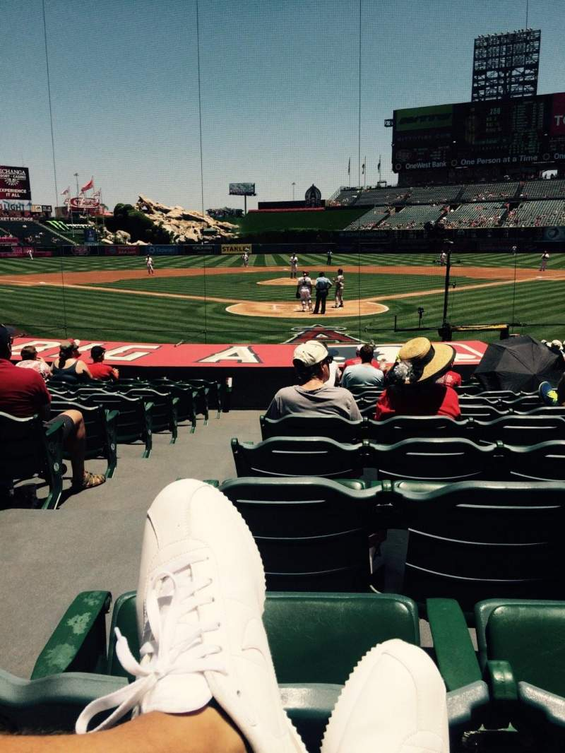 Seating view for Angel Stadium Section F118 Row N Seat 1