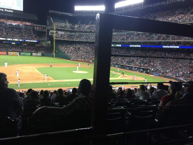 Seating view for Globe Life Park in Arlington Section 118 Row 33 Seat 17