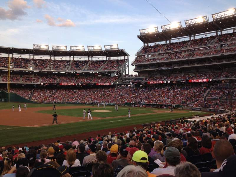 Seating view for Nationals Park Section 113 Row R Seat 9