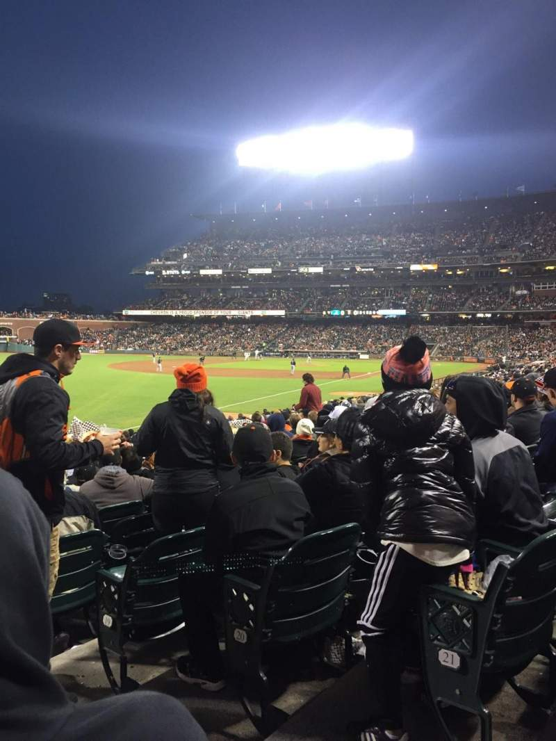 Seating view for AT&T Park Section 131 Row 22