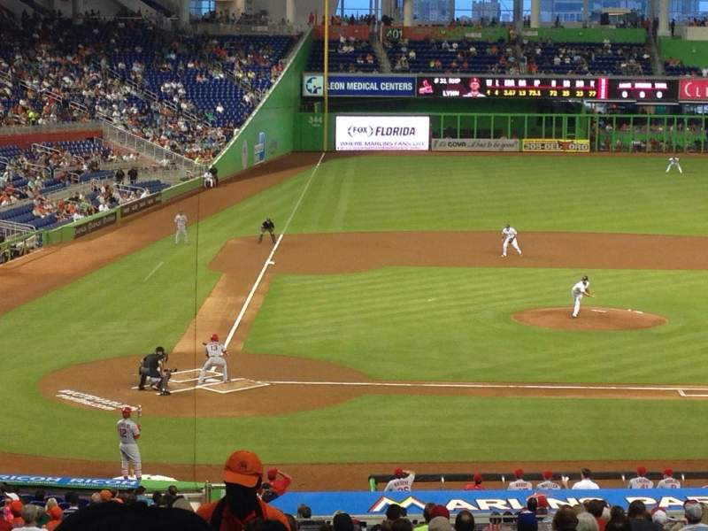 Seating view for Marlins Park Section 10 Row 25 Seat 20