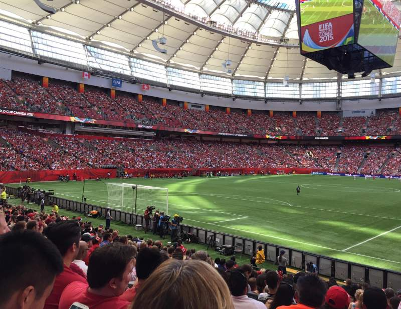 Seating view for Bc place Section 251 Row M Seat 106