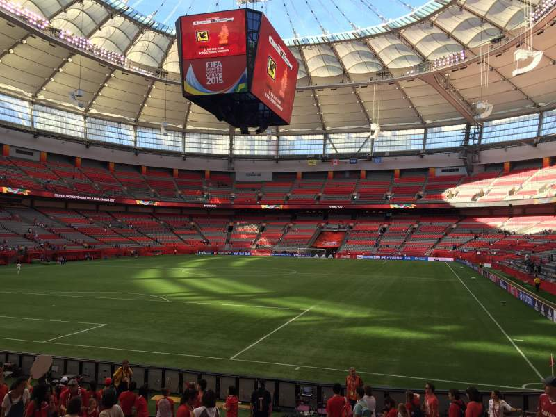 Seating view for BC Place Section 251 Row M Seat 107