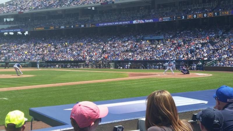 Seating view for Kauffman Stadium Section 119 Row E Seat 5