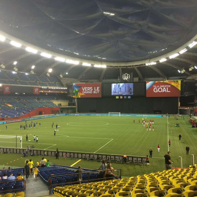Seating view for Olympic Stadium, Montreal Section 105 Row Q Seat 21