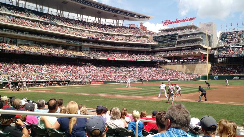 Seating view for Target Field Section 3 Row 9 Seat 15