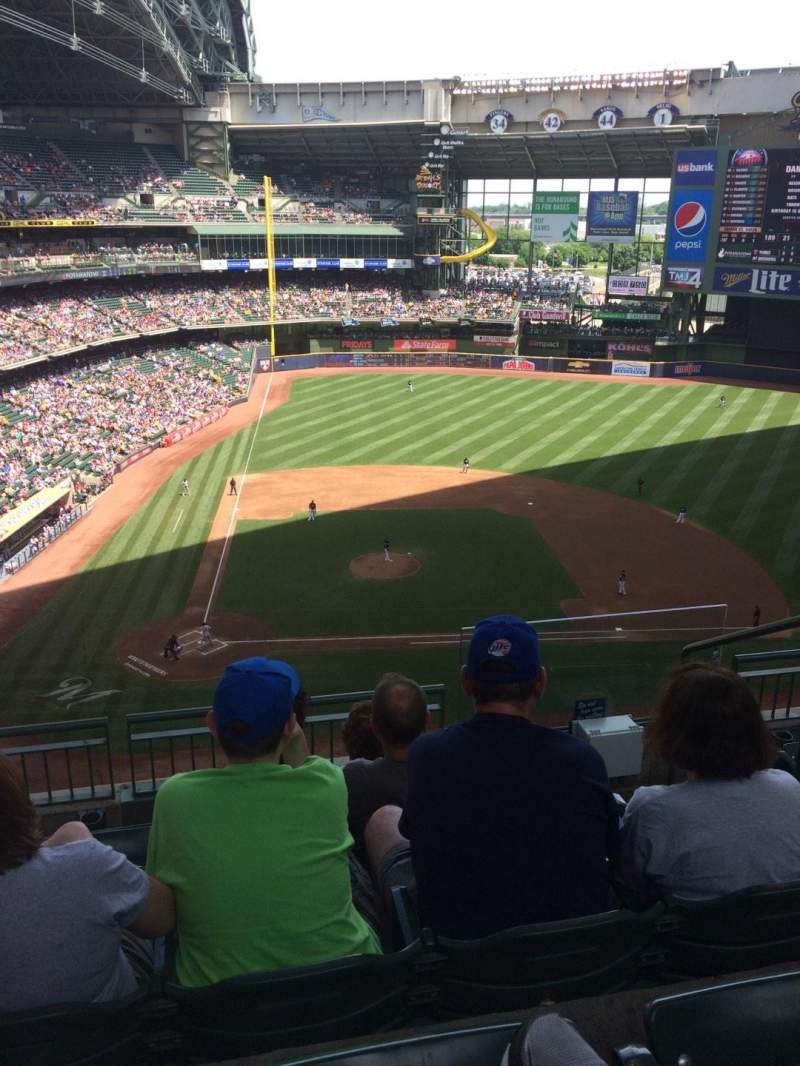 Seating view for Miller Park Section 417 Row 5 Seat 7