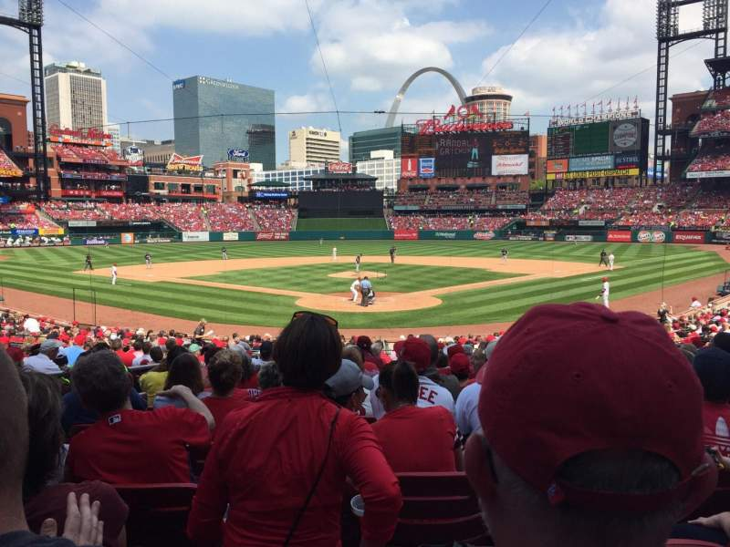Seating view for Busch Stadium Section 150 Row 16 Seat 13