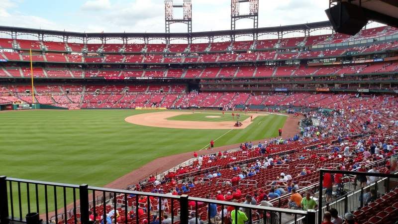 Seating view for Busch Stadium Section Lp1 Row 3 Seat 3