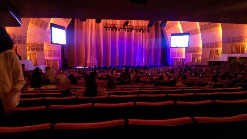 Seating view for Radio City Music Hall Section Orchestra 6 Row V Seat 610