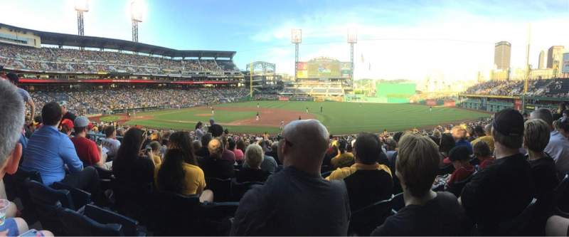 Seating view for PNC Park Section 108 Row U Seat 18