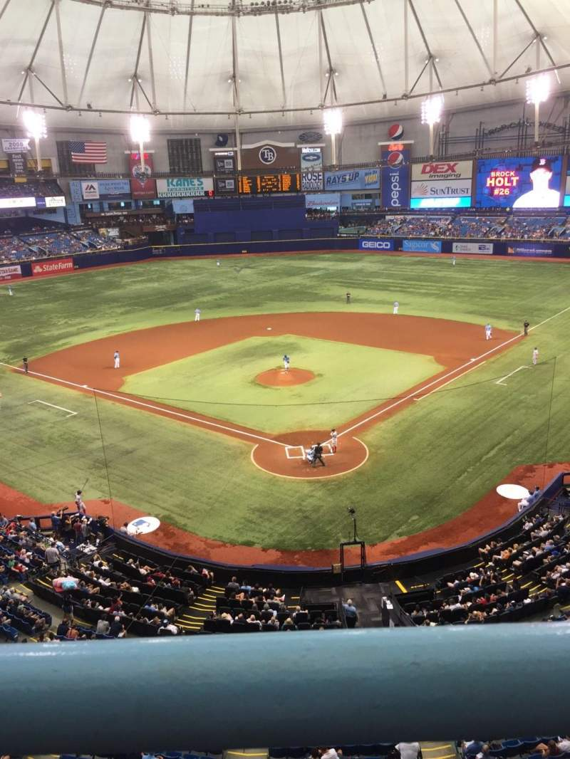 Seating view for Tropicana Field Section 301 Row A Seat 14