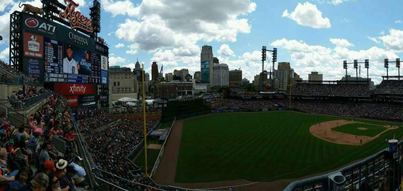 Seating view for Comerica Park