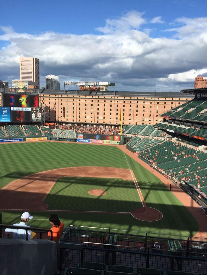 Seating view for Oriole Park at Camden Yards