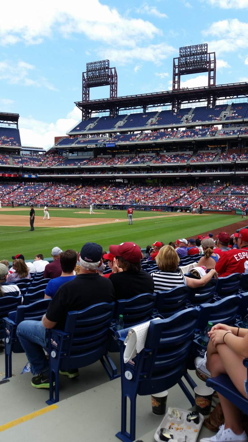 Seating view for Citizens Bank Park Section 136 Row 11 Seat 1